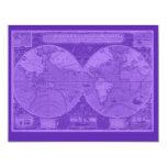 Tarjetas bonitas con la impresión del mapa invitación 10,8 x 13,9 cm