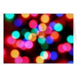 Tarjetas borrosas de las luces