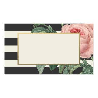 Tarjetas botánicas del lugar del encanto que se ca tarjeta de visita