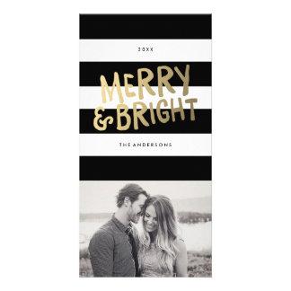 Tarjetas brillantes de la foto del día de fiesta tarjetas fotograficas personalizadas
