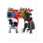 Tarjetas:  Buenas fiestas de BT y de perritos del  Postales