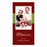 Tarjetas calientes de la foto de familia del navid tarjeta fotográfica