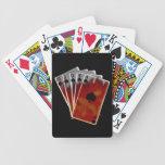 Tarjetas calientes del póker de la mano baraja de cartas