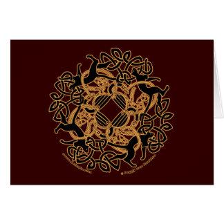 Tarjetas célticas de Knotwork de los gatos de Samh