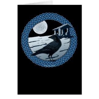 Tarjetas célticas de la luna, del cuervo y del dol