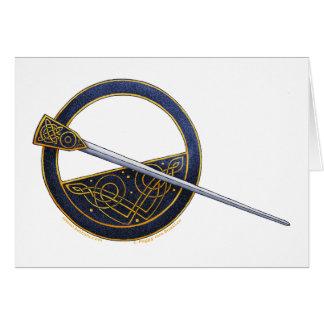 Tarjetas célticas del diseño de la broche