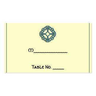 Tarjetas célticas del lugar del boda del nudo de tarjetas de visita