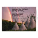 Tarjetas cherokees del rezo de la bendición