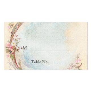 Tarjetas color de rosa del vintage y del petirrojo tarjeta de negocio