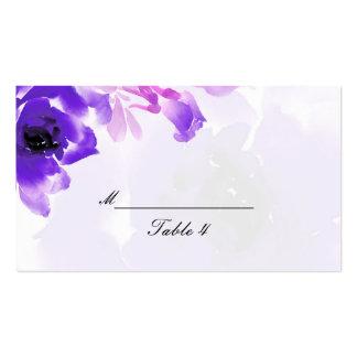 Tarjetas color de rosa púrpuras del lugar del boda plantillas de tarjeta de negocio