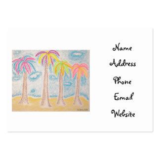 Tarjetas coloridas del Palma-negocio Tarjetas De Visita Grandes