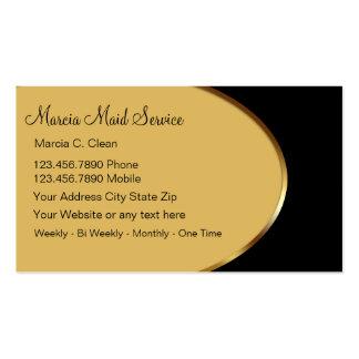 Tarjetas con clase de la empresa de servicios de l tarjetas de visita
