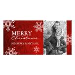 Tarjetas con clase de la foto del navidad plantilla para tarjeta de foto