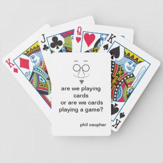 tarjetas con una torsión filosófica barajas de cartas