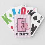 Tarjetas cones monograma de Kid'sPlaying del elefa Barajas De Cartas