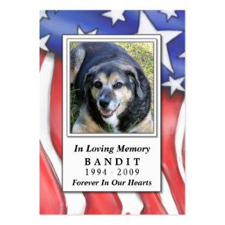 Tarjetas conmemorativas del mascota - azul blanco tarjetas de visita