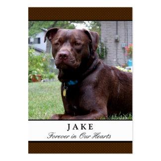 Tarjetas conmemorativas del perro - marrones con tarjetas personales