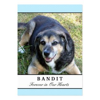 Tarjetas conmemorativas del perro - moderno azul tarjetas personales