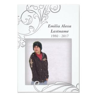 tarjetas conmemorativas: flourish blanco comunicado personal