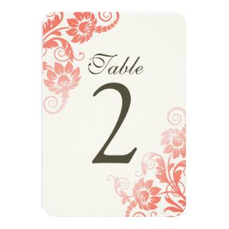 """Tarjetas coralinas adaptables del número de la invitación 3.5"""" x 5"""""""