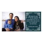 Tarjetas cristianas de la foto del navidad del vin tarjetas personales