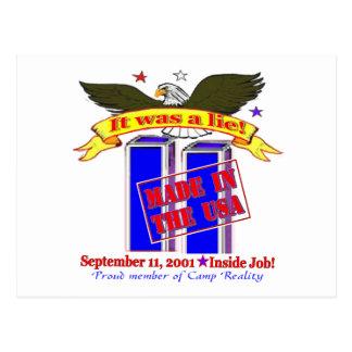 Tarjetas de 9/11 conspiración postal