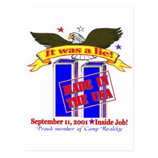 Tarjetas de 9/11 conspiración postales