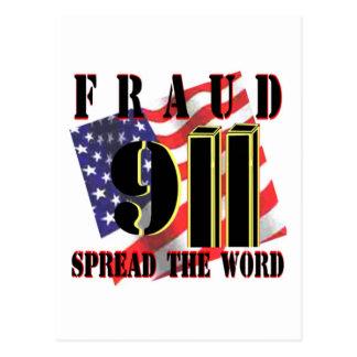 Tarjetas de 9/11 conspiración tarjetas postales