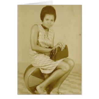Tarjetas de Africana del vintage - maestro,