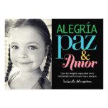 Tarjetas de Alegría de La Paz y el amor de vacacio Invitación