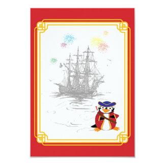 Tarjetas de almirante Penguin ARRRSVP Invitaciones Personales