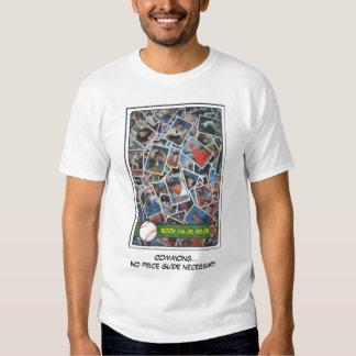 Tarjetas de béisbol comunes #1 camisas