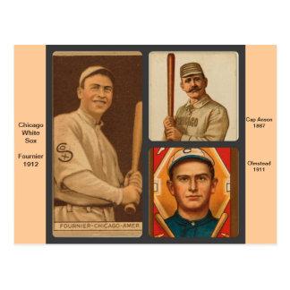 Tarjetas de béisbol de Chicago White Sox del Postal