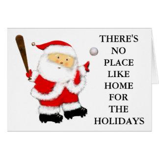 Tarjetas de béisbol para el navidad