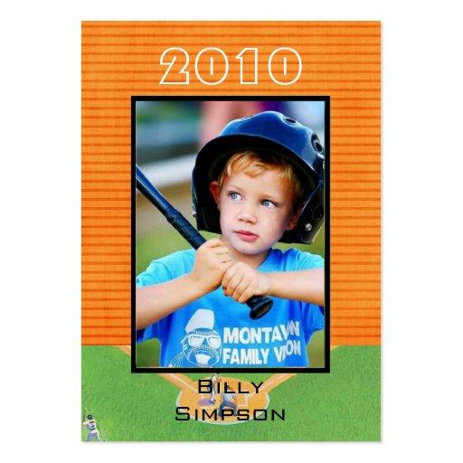 Tarjetas de béisbol tarjetas de visita grandes
