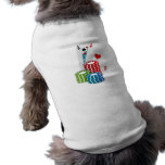 Tarjetas de Black Jack con las fichas de póker Camiseta De Perrito