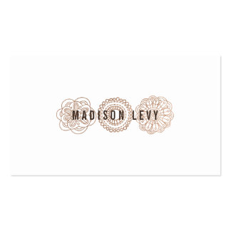Tarjetas de bronce de la cita del estilista del tarjetas de visita