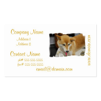 Tarjetas de Businss del perro de Shiba Inu Tarjetas De Visita
