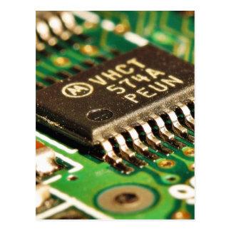 Tarjetas de circuitos de chips de ordenador postal