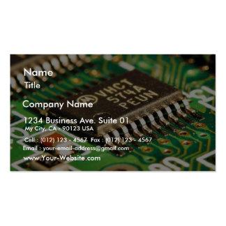 Tarjetas de circuitos de chips de ordenador plantillas de tarjetas personales