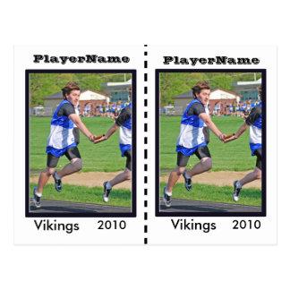 Tarjetas de comercio adaptables del atletismo postal