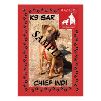 Tarjetas de comercio del SAR K9 (el arrastrarse) Tarjetas De Negocios
