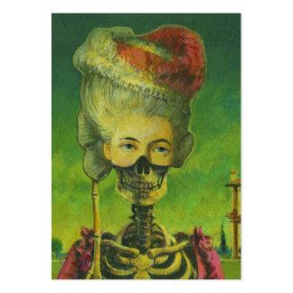 Tarjetas de comercio góticas de los artistas del tarjetas de visita grandes