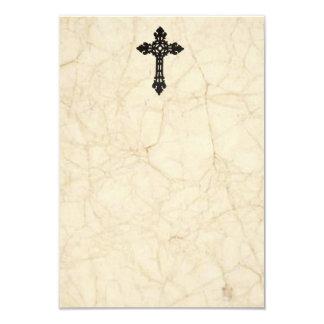 Tarjetas de condolencia del pergamino del vintage invitación 8,9 x 12,7 cm