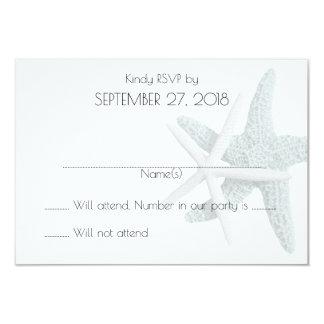 """Tarjetas de contestación blancas del boda de las invitación 3.5"""" x 5"""""""