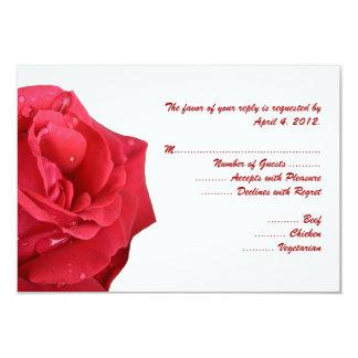 Tarjetas de contestación brillantes del rosa rojo comunicado