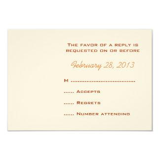Tarjetas de contestación cones monograma del boda invitación 8,9 x 12,7 cm