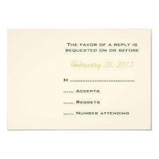"""Tarjetas de contestación cones monograma del boda invitación 3.5"""" x 5"""""""