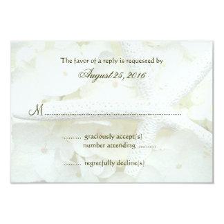 Tarjetas de contestación de la invitación del boda