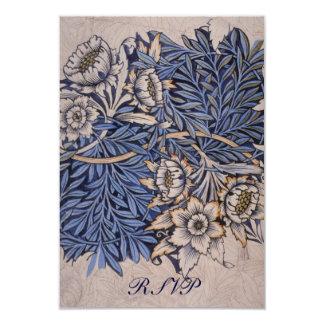 Tarjetas de contestación de William Morris para Invitación Personalizada